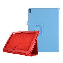 Funda de PU con soporte Folio para Lenovo Tab P10 TB X705 M10 TB X605 X605, funda protectora Normal para tableta 100 unids/lote