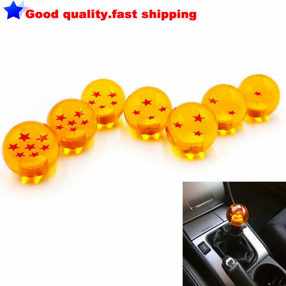 Seven Star 54mm Star Car Gears Shift Knob Fit for Universal Vehicle with 3 Plastic Adapter