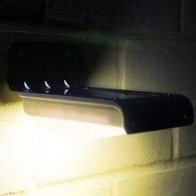 16 luz Solar del LED Motion Sensor jardín exterior impermeable ligera Solar luz del jardín luces solares Warmwhite