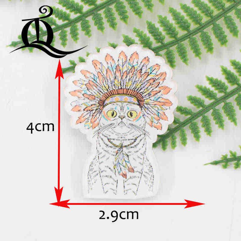 1 PC Campuran Harimau Hewan Robot Kartun Acrylic Lencana Kawaii Lencana Ikon Di Ransel Lencana untuk Pakaian Tas Pin bros Z22