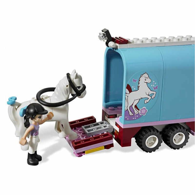 217 pcs/set teman seri emma peternakan kuda sinar matahari diy perakitan blok bangunan enlighten mainan untuk anak-anak hadiah