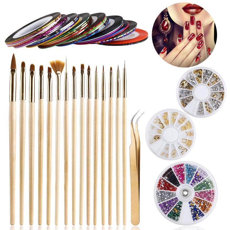 Women Nail Art Tool Kit 15pcs N
