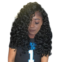 Deep Wave 360 Lace Frontal Wigs Pre Plucked 180 Density Honey Queen Brazilian Remy Hair Natural