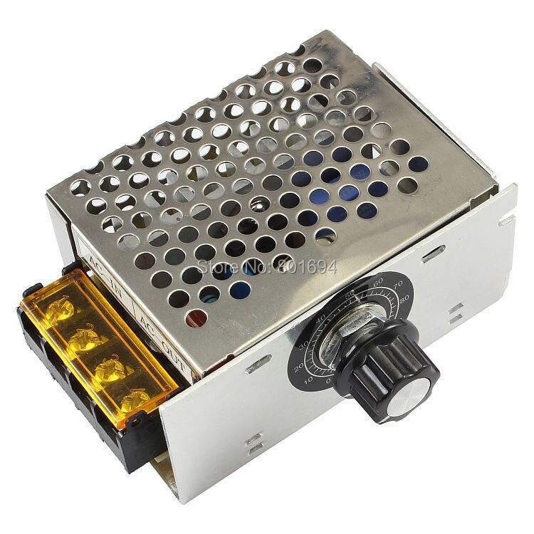 AC 220V 4000W SCR Voltage Regulator Power Speed Controller Dimmer Thermostat 20A Stepless Dimming 0V From The Transfer free shipping 50pcs ams1117 5 0v ams1117 lm1117 1117 5 0v voltage regulator sot 89
