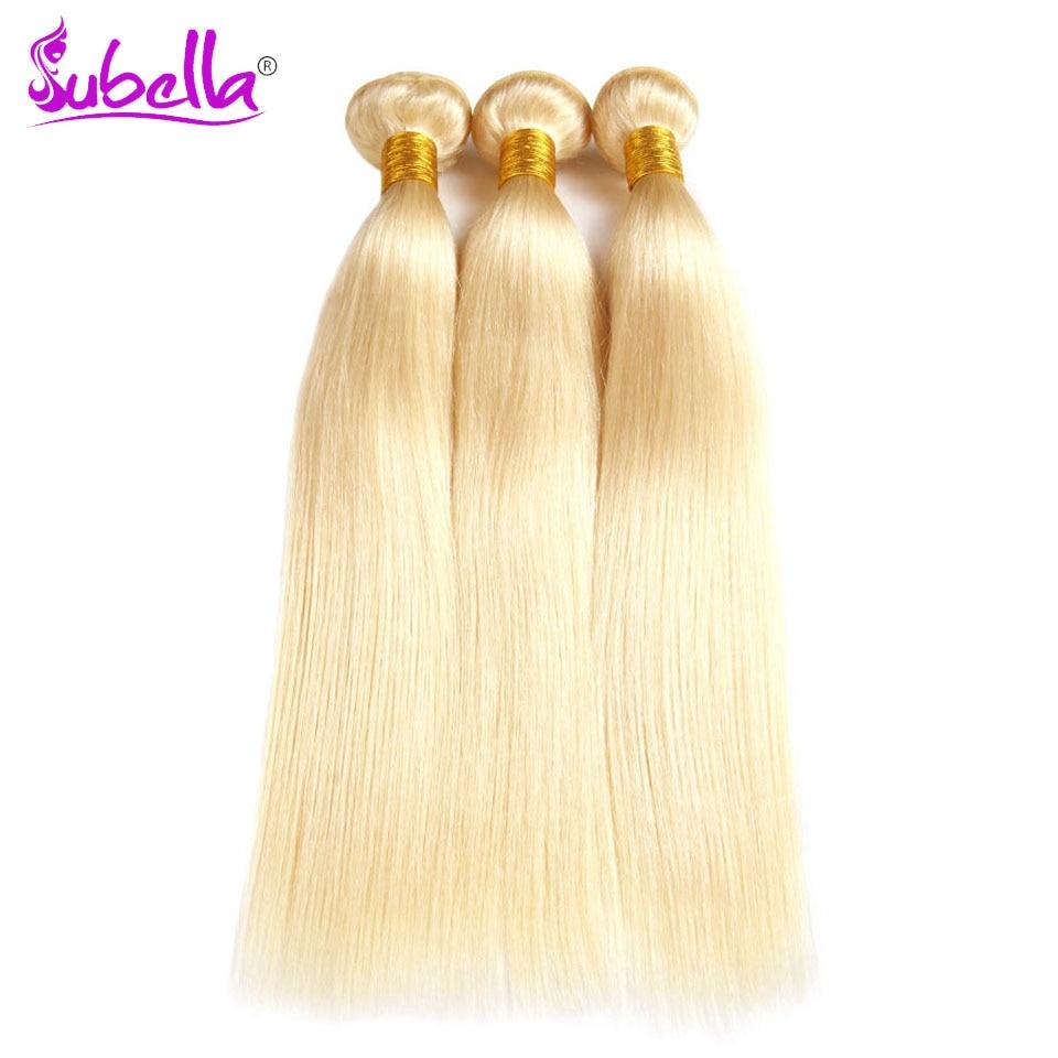 Subella волос 613 светлые волосы Малайзии волос Weave 3bundles прямой 100% человеческих волос Связки 10-24 дюймов Бесплатная доставка не Remy