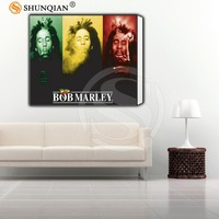 Custom Framed Picture Bob Marley Classic Canvas Prints Realistic DIY Oil Painting Fabric Printed On Canvas
