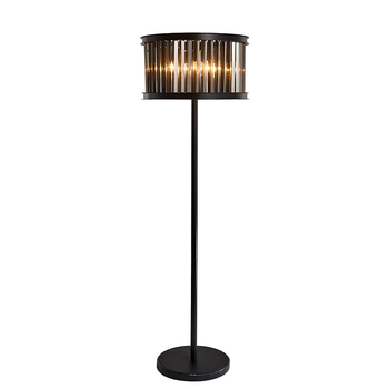 Antik 150 Cm Hitam Kristal Lampu Lantai untuk Kedai Kopi Ruang Makan Baru Asap Lampu Kristal Ruang Tamu Kamar Lantai cahaya