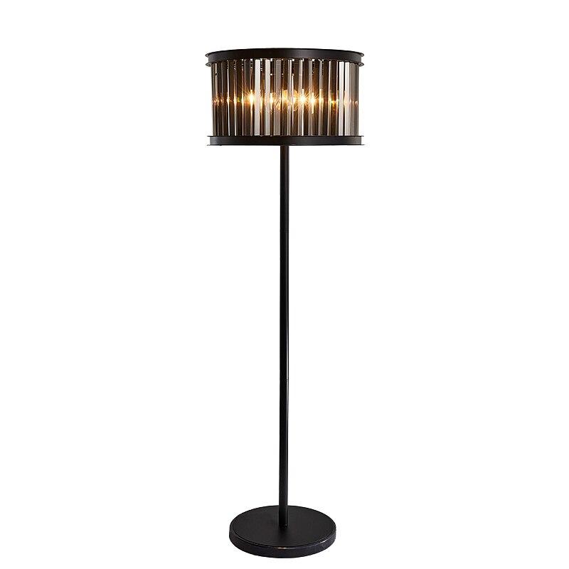 Antique 150 cm noir cristal lampadaire pour café salle à manger nouveauté fumée cristal lampe salon mariage lampadaire