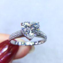 cdf9be254944 Joyería fina de oro Real 18 K AU750 G18K 2ct Moissanite anillo de diamantes  de piedras preciosas anillos para las mujeres