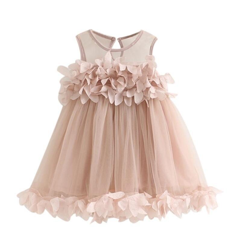 MUQGEW Baby Mädchen Prinzessin Kleid Für Party Und Hochzeit Pageant Ärmelloses Drucken Kleider Roupas Infantis Menina