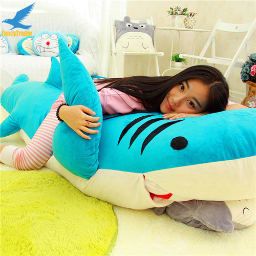 Fancytrader Huge Giant Shark Sleeping Bag Beanbag Sofa Bed Carpet Tatami Plush Stuffed 2 Colors FT90358 (7)