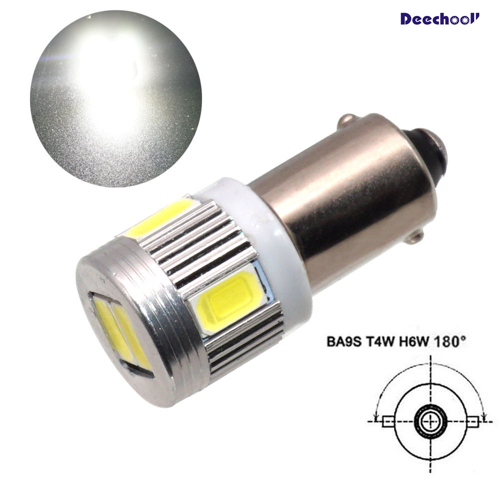 2x 233 Ba9s T4w Led Red Interior Reading Lamp Bulbs Xenon Beam 12v Hid Upgrade