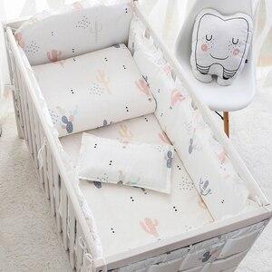 4 do 10 sztuk bawełny komplet pościeli dziecięcej noworodka pościel dla dziewczynki chłopiec odpinany łóżeczko dla dziecka zderzaki zestaw 7 rozmiarów pościel do łóżeczka zestaw