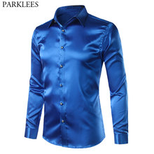 5548622ccbd53 Buy silk satin shirt and get free shipping on AliExpress.com