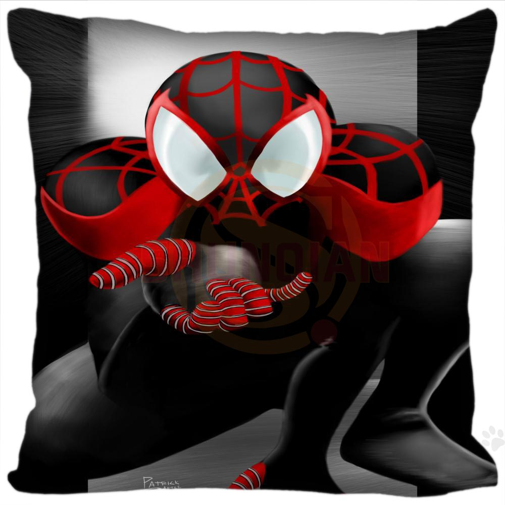 H+P#195 New Hot Custom Pillowcase Spiderman#3 soft 45x45 cm (One Side) Pillow Cover Zippered SQ01003@H0195