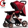 Alta paisagem strollerr bebê portátil carrinho de bebê de quatro rodas de two-way carrinho de bebê das crianças do bebê WLB-T9912