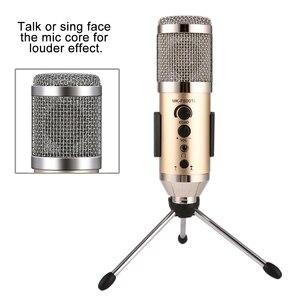 Image 3 - GEVO MK F500TL microfono pc profesional 3,5mm jack con cable USB condensador micrófono Karaoke para teléfono portátil para la radiodifusión de grabación de música para estudio con clip de soporte mic
