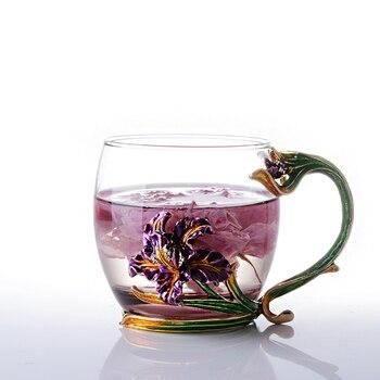 Tazza Di Caffè Amici | Smalto Tazza Di Caffè Tazza Di Tè Tazza Di Vetro Resistente Al Calore Di Alta Qualità Mark Creativo Fiore Drinkware Amico Regalo