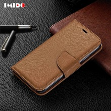 IMIDO Leather Flip Phone Case For iPhone XS MAX XR X 8 7 6 6S Plus Silicon Wallet Card Bracket Back Cover Capa