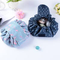 Animal Flamingo Cosmetic Bag Professional Drawstring Makeup Case Women Travel Make Up Organizer Storage Pouch Toiletry Wash Kit Cosmetic Bags