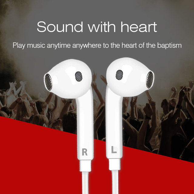 Headset with Mic Volume Control fone de ouvido for iPhone Xiaomi Sport Running Headphones 3.5mm Jack Earphones Stereo Music