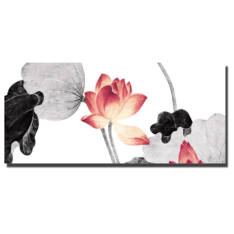 HD Print Lotus Oil Paintings Print On Canvas Bed Room Decoration China Traditional Wall Art No Frame Decorative Pictures Posters