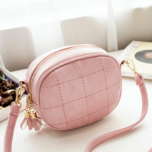 2016 New Women Messenger Bag Cute Candy Pu Mini Shoulder Bags High Quality Tassel Line Casual Party Girls Bag