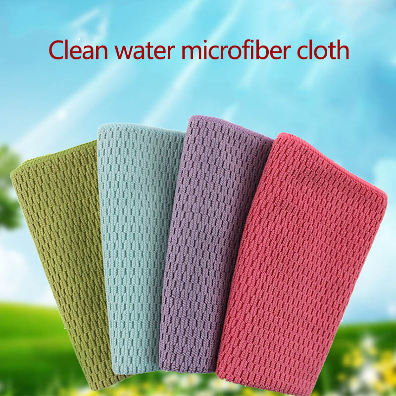 Thicker Microfibre Wipes Table Window Tools Easy Cleaning Absorbent Portable Kitchen Towel 1 PC Cleaning Cloth(China)