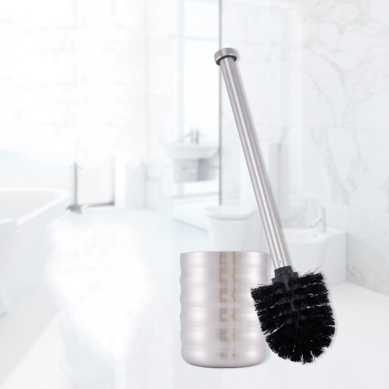ANHO Creative Stainless Steel Toilet Brush Set European-style Bathroom Cleaning Brush with Wave Base WC Cleaning Accessories