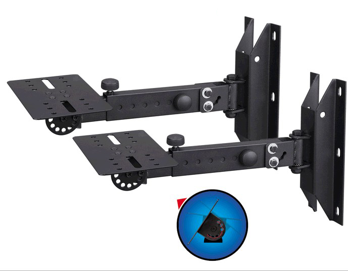 BL-WD328 Professional 2pcs (1Pair)  Tilting Rotating Surround Holder Speaker Bracket Wall Mount Holder With Metal Plate