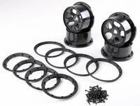 Wheel Hub with beadlock rim 4pcs/set for 1/5 hpi baja 5t 5sc rovan km truck parts