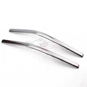 Image 4 - 1 пара соединительных обтекателей для мотоциклов в форме банта хромированные полосы для Honda GoldWing GL1800 2001 2011 GL 1800 декоративные полосы детали