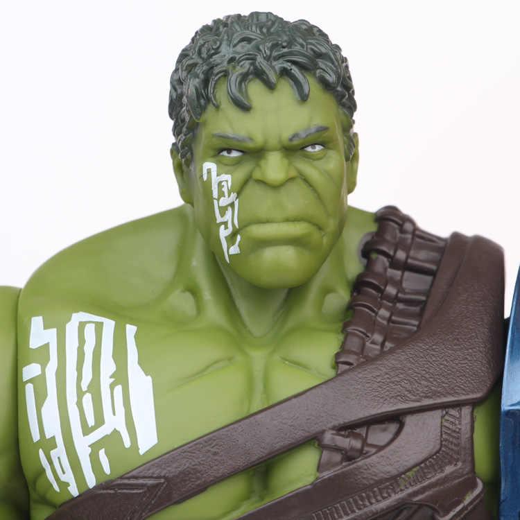 35cm Tamanho Big Avengers Marvel Thor 3 Ragnarok As Mãos Móveis Guerra Martelo Machado de Batalha Gladiador BJD Hulk Figura de Ação modelo de Brinquedo
