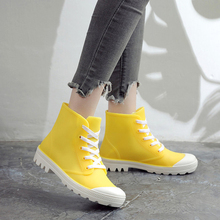 Woman Rain Boots Ankle Boot For Woman Waterproof Solid Color Shoes 2019 Spring Autumn Rain Boots Non-Slip Female Casual Shoes
