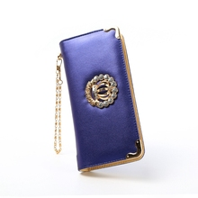 High quality leather Women Wallet fashion Purse Brand Design Clutch female Lady Money Bag Fashion Coins Holder hand bag