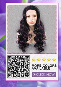 """26 """"удлиненная вьющиеся фронта шнурка два тона костюм градиент парик способа высокого качества дамы костюм градиент парик с18"""