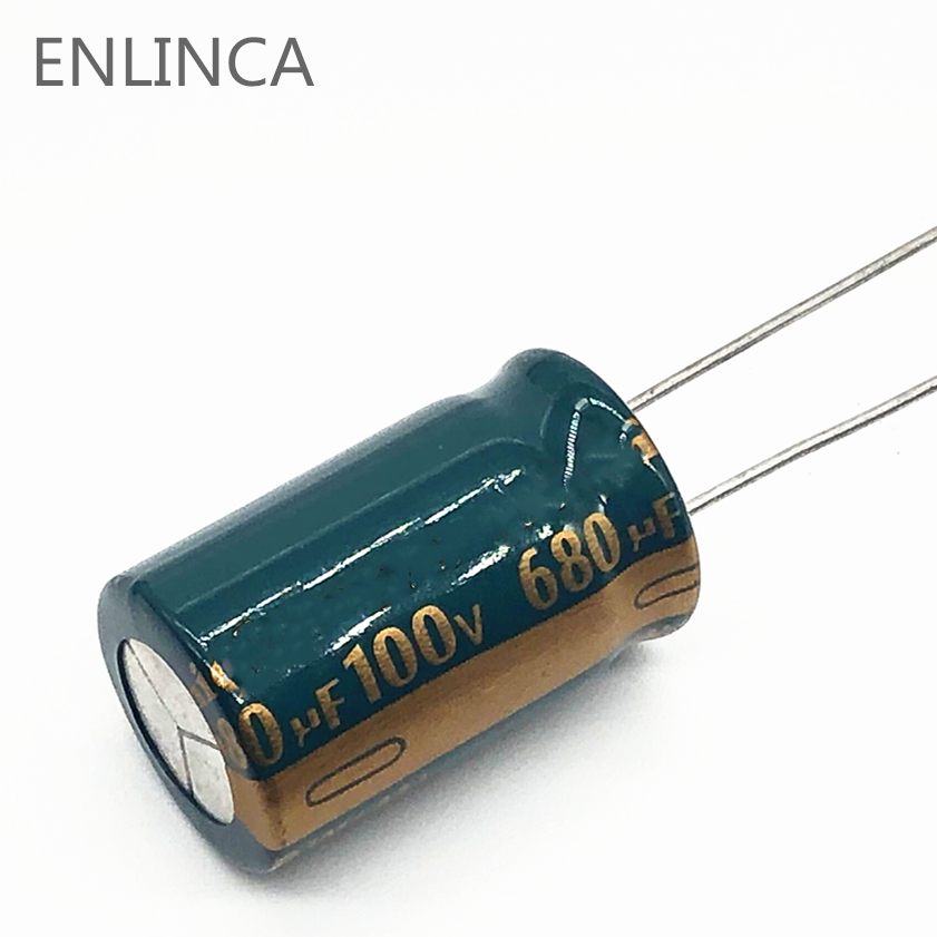 4pcs/lot S42 high frequency low impedance 100v 680UF aluminum electrolytic capacitor size 16*30 680UF 20% image