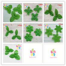 SALE! 48pcs multi option  Rose branch and stem Artificial leaves Diy Silk flower materials A0816