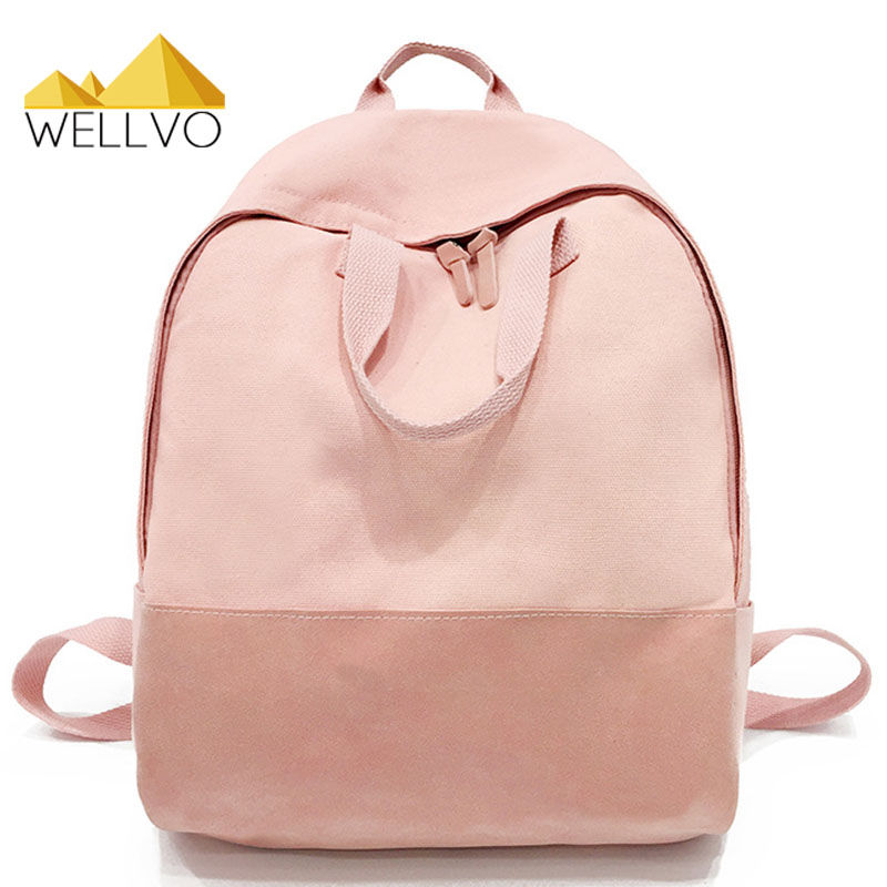 Women Canvas Backpack Girls Casual Travel Bag Backpack School Bags For Teenager Girls Boys Large Capacity Book Bag Fresh XA1995C top hot cow leather canvas backpack women vintage backpack casual travel men backpack climbing bag for girls boys