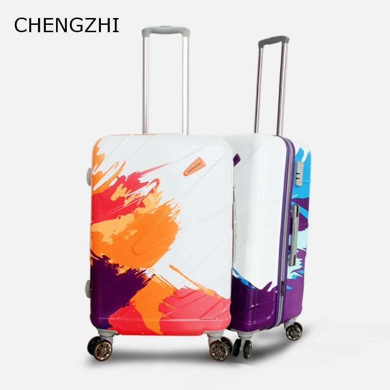 CHENGZHI 20 24 28inch waterdichte ABS + PC rolling bagage spinner trolley case reizen koffer op wielen