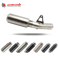 Alconstar One Set For BMW S1000RR 2010 2014 61mm SC GP Exhaust Muffler With Middle Pipe Muffler Pipe Stainless Steel
