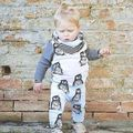 2015 new baby boy thanks baby clothing unisex cotton long sleeved t-shirts + pants 2 / PSC Infant penguin baby boy clothing set