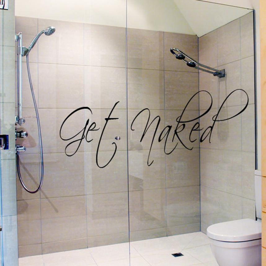 Personality Get Wall Decal Vinyl Bathroom Art Stickers 420