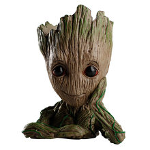 Cute Tree Man Anime Action Figure Dolls Penholder Grunt Guardians of The Galaxy 2 Model Hero pen pot and flower pot Toys(China)
