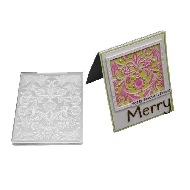 Us 3 25 13 Off 3d Flowers Leaves Embossing Templates Diy Design Paper Cutting Dies Scrapbooking Plastic Embossing Folders Card Making Stamps In
