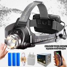 Shenyu sensor infravermelho led farol recarregável zoomable rotação luz cabeça tocha cree XML T6 l2 farol caminhadas acampamento