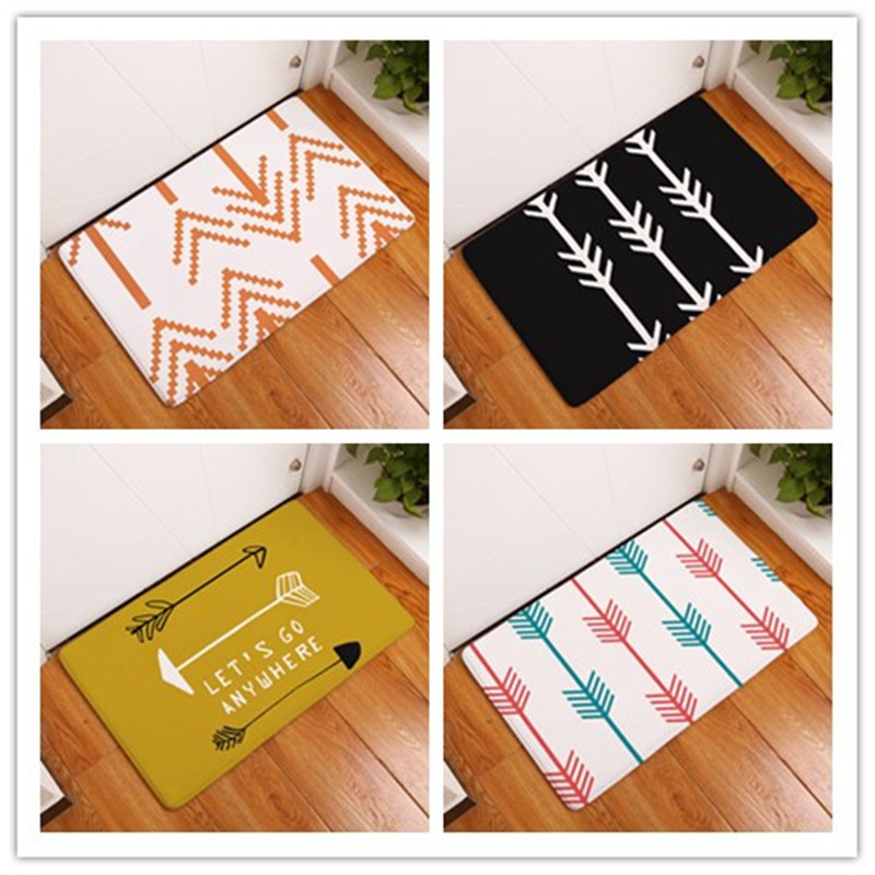 US $3.24 35% OFF|Entrance Door Mat Geometry Arrow Kitchen Rugs Doormat  Bedroom Carpets Decorative Stair Mats Home Decor Crafts-in Mat from Home &  ...