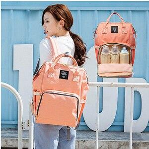 Image 5 - Fashion Brand Large Capacity Baby Bag Travel Backpack Designer Nursing Bag for Baby Mom Backpack Women Carry Care Bags