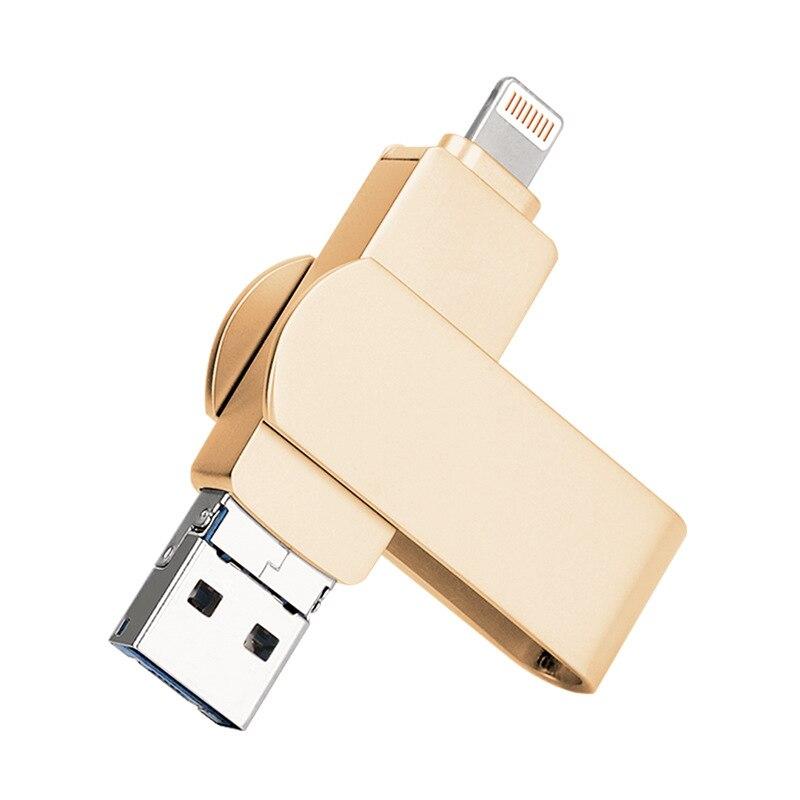 Бесплатный Логотип! 10 шт. вращающийся флэш накопитель 4 ГБ 8 ГБ 16 ГБ 32 ГБ 64 ГБ 128 ГБ USB2.0 флэш накопитель Флешка lightning U диск для Ipone/Android - 3