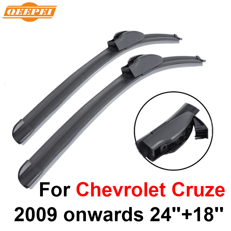 Prix pour QEEPEI Lames D'essuie-Glace Pour Chevrolet Cruze 2009 partir 24 ''+ 18'' Haute Qualité Iso9001 Caoutchouc Naturel Propre Avant pare-brise F03